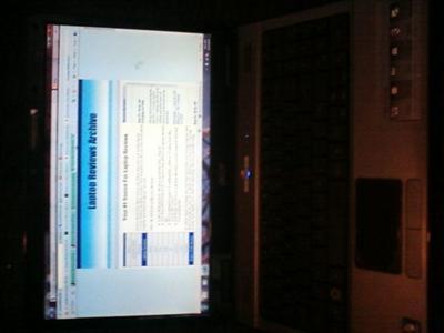 Acer Aspire 5517 Open laptop