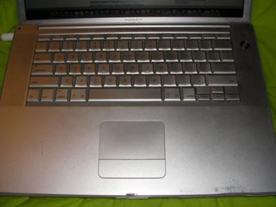 Apple 15 Aluminum PowerBook G4 keyboard