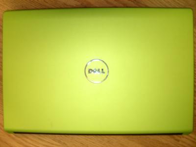 Green Dell Studio 15 Laptop