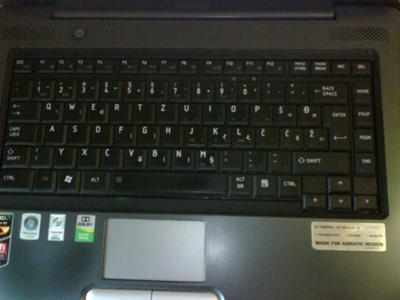 Toshiba A300D-213 Great Keyboard