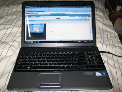 HP Compaq Presario CQ61 340EV screen